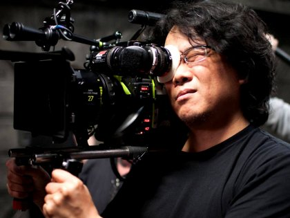 Bon Joon-ho on the sets of Okja