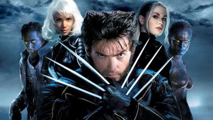 hugh jackman as wolverine in X2 : X-Men United [2003]