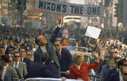 Pat Nixon and Richard Nixon in The Untold History of the United States (2012)